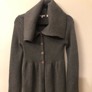 Vince button front sweater